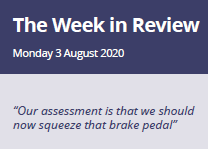 The Week in Review Monday 3rd August