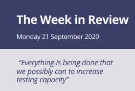The Week in Review Monday 21st September