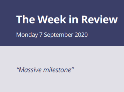 The Week in Review Monday 7th September