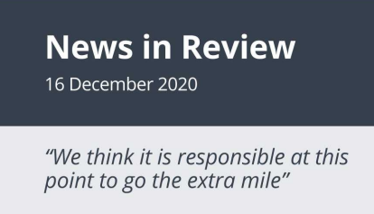 News in Review Wednesday 16th December 2020