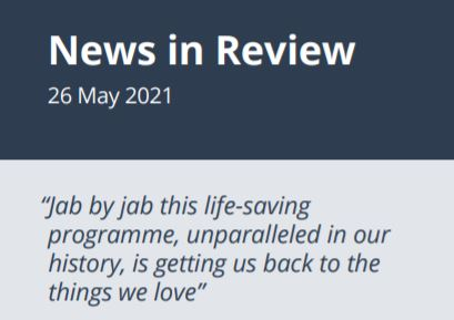 News in Review Wednesday 26th May 2021