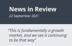 News in Review Wednesday 22nd September 2021