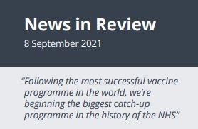 News in Review Wednesday 8th September 2021